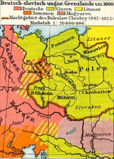 Mitteleuropa um 1000