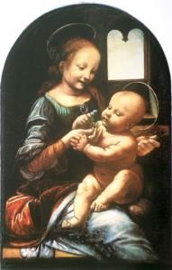 Madonna Benois - Leonardo da Vinci (ca. 1477) - Quelle: Wikipedia