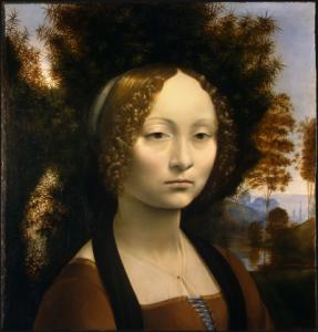 Bildnis der Ginevra de' Benci - Leonardo da Vinci, 1474–1478 (Quelle: Wikipedia)