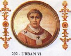 Portrait von Papst Urban VI  Quelle: Wikipedia