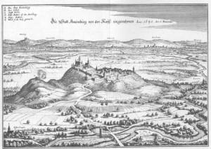 Burg Amoeneburg - Auszug aus der Topographia Hassiae