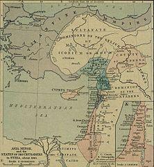 Kleinasien und die Kreuzfahrerstaaten um 1140 (Quelle: Wikimedia)