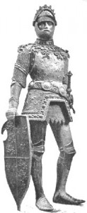 Statue König Artus' am Grabmal Kaiser Maximilians I. (Peter Vischer, 1512) (Quelle: Wikipedia)