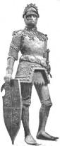 Statue König Artus' am Grabmal Kaiser Maximilians I. (Peter Vischer, 1512)