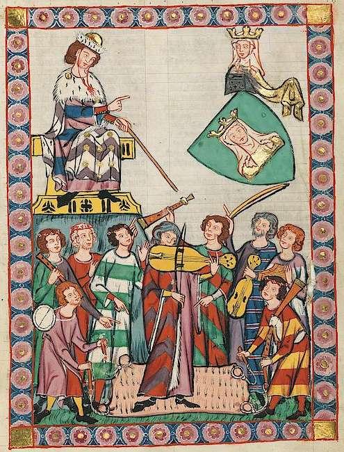 Große Heidelberger Liederhandschrift - Codex Manesse - Heinrich von Meissen genannt Meister Heinrich Frauenlob