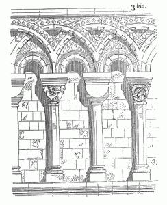 Romanische Säulenreihe der Kathedrale von Canterbury (Quelle: Wikipedia)