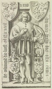 Ludwigsstadt - Burg Lauenstein - Grabstein von Graf Otto X von Orlamuende zu Lauenstein