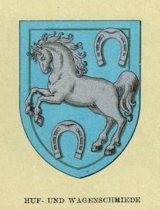 Wiener Gewerbewappen Hufschmiede (Quelle: Wikimedia)