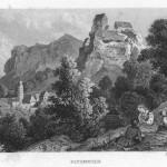 Burg Pottenstein - Stahlstich Henry Winkles