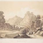 Burg Pottenstein - Zeichnung Kaeppel