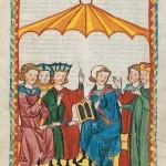 roße Heidelberger Liederhandschrift - Codex Manesse - Meister Gottfried von Straßburg
