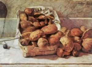 Pilze - Ölgemälde von Segantini, Giovanni 1886 (Quelle: Zeno.org)
