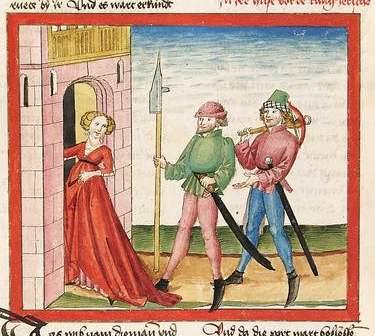 Bibel AT Cod Pal germ 16 - Spione finden eine Unterkunft im Haus der Hure Rahab