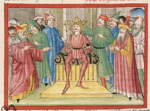 Bibel AT Cod Pal germ 17 - Salomon wird zum König gekrönt