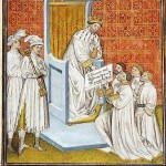 Chlotar II. in Verhandlung mit den Lombarden