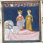 Karl Martell im Totenbett
