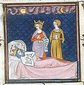 Karl Martell im Totenbett (Quelle: Wikipedia)