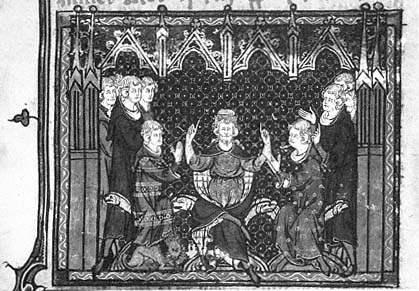 Kurz vor seinem Tod teilt Karl Martell das Frankenreich unter seinen Söhnen Karlmann und Pippin auf