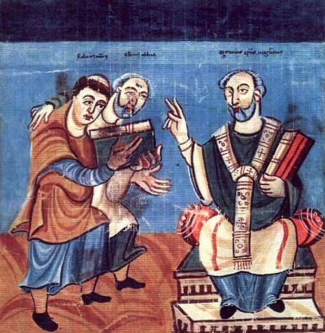 Rabanus Maurus und Alkuin und Heiliger Martin