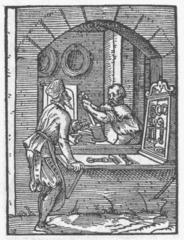 Werkstatt des Drahtziehers im Mittelalter