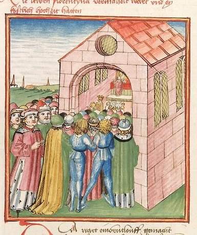 Elisabeth von Nassau-Saarbrücken Cod Pal germ 152 - Die Hochzeit Florentines und Lewes
