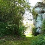 Burgruine Steinamwasser - Aufgang zur Burg durch eine Schlucht