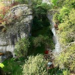 Burgruine Steinamwasser - Ostseite des Burgfelsens