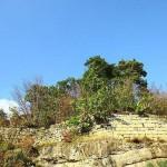 Burgruine Steinamwasser - Quadermauer an der Südseite