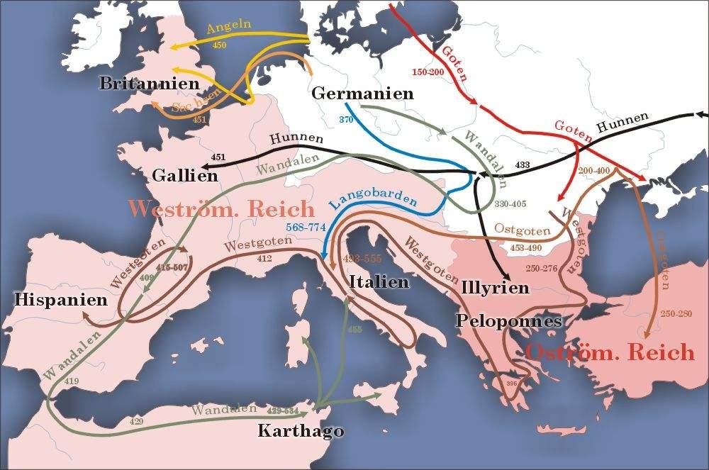 Germanische Staatsgrundungen Auf Romischem Boden Wandalen Goten