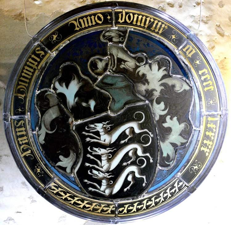 Wappenscheibe des Hans Humpis 1490
