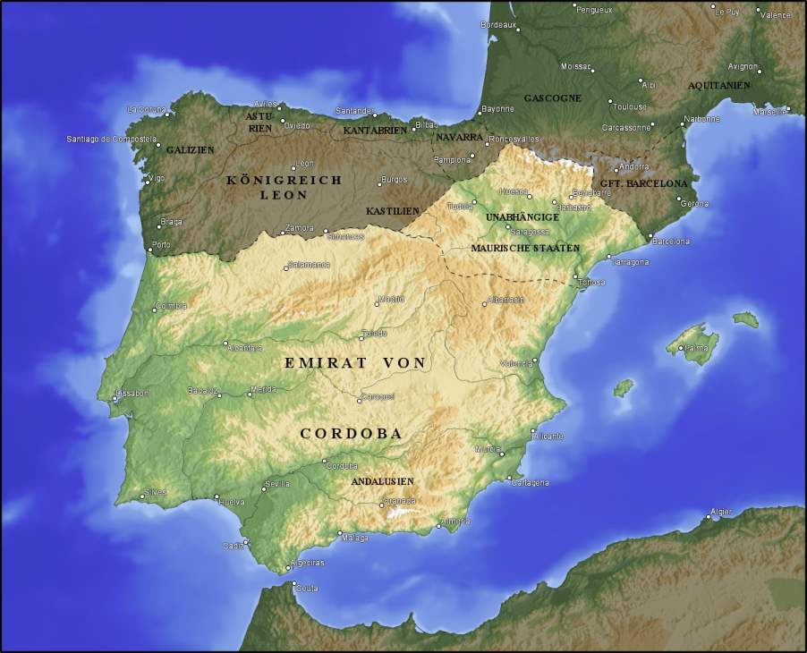 Frühes Mittelalter – Die Arabische Herrschaft in Spanien (711 – Ende 15 Jahrhundert)