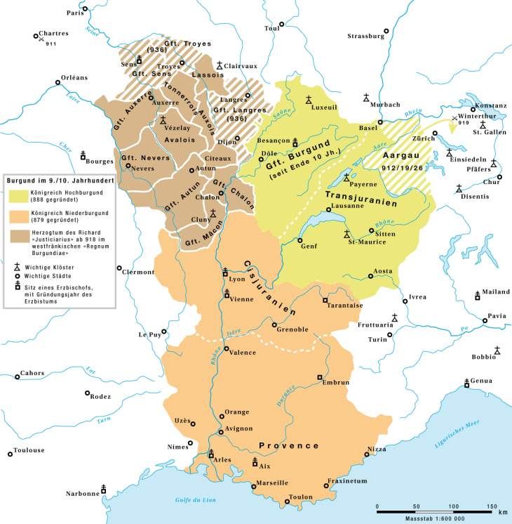 Burgund im 9. und 10. Jahrhundert
