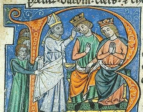 Krönung von Fulko und Melisende von Jerusalem