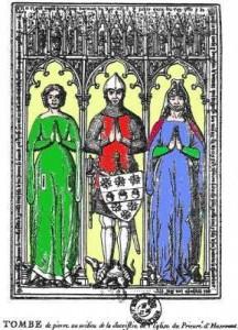 Grab Guillaume Tirels und seiner zwei Frauen Quelle: Wikipedia)
