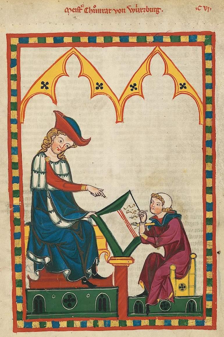 Große Heidelberger Liederhandschrift - Codex Manesse - Meister Konrad von Würzburg