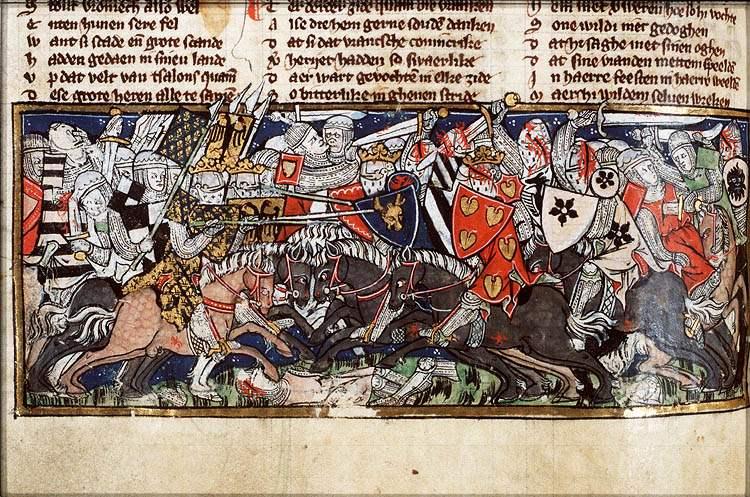 Schlacht auf den Katalaunischen Feldern - Handschrift