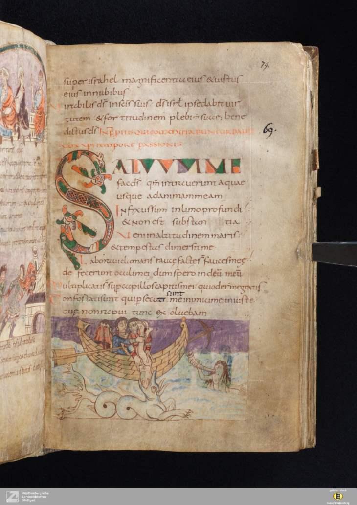 Stuttgarter Psalter - Cod bibl fol 23 - Seite 163