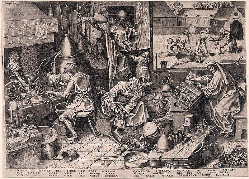 Alchemist - Pieter Bruegel the Elder