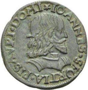 Münze aus dem 16. Jahrhundert mit dem Bildnis von Giovanni Sforza