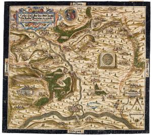 """""""Erster theil oder die Ober-Zentth Des Ambts Forcheim"""" (1602; Staatsbibliothek Bamberg, HVG 2/23; Quelle: wikimedia.org)"""