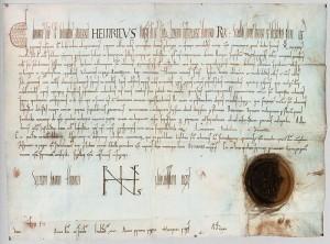 Urkunde Heinrichs II. für Würzburg (1002; Quelle: wikimedia.org)