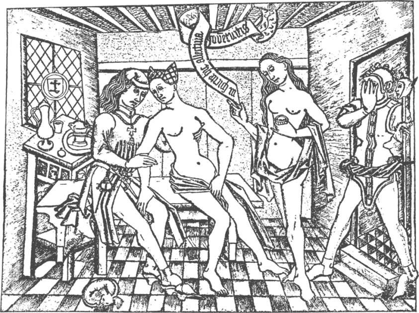 Prostituierte - Kupferstich - Meister mit den Bandrollen