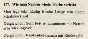 Das Lorscher Arzneibuch der Staatsbibliothek Bamberg Rezepte gegen Narben Quelle: mit freundlicher Genehmigung der Staatsbibliothek Bamberg