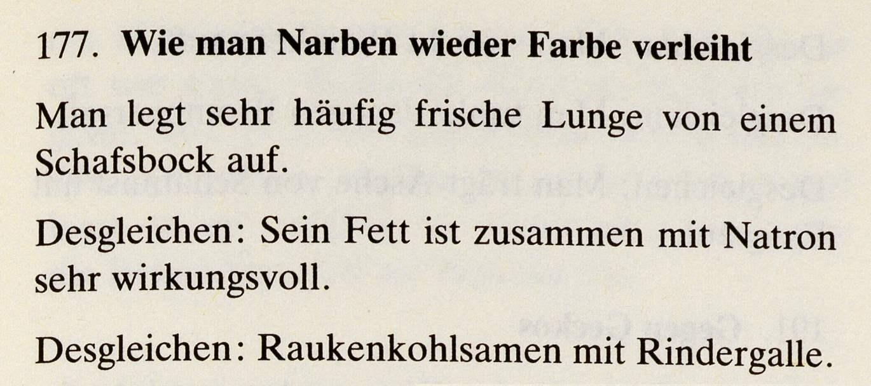 11_Das Lorscher Arzneibuch der Staatsbibliothek Bamberg_Rezept Narben
