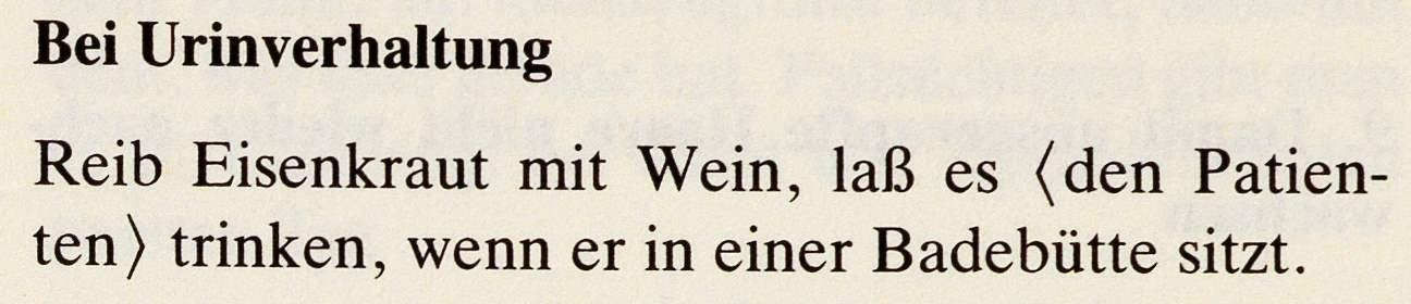 14_Das Lorscher Arzneibuch der Staatsbibliothek Bamberg_Rezept Urinverhaltung