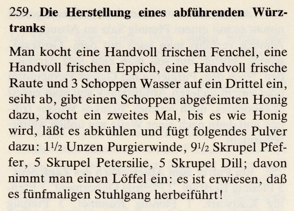 15_Das Lorscher Arzneibuch der Staatsbibliothek Bamberg_Rezept abfuehrender Wuerztrank