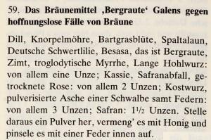 Das Lorscher Arzneibuch der Staatsbibliothek Bamberg Rezept gegen Bräune Quelle: mit freundlicher Genehmigung der Staatsbibliothek Bamberg