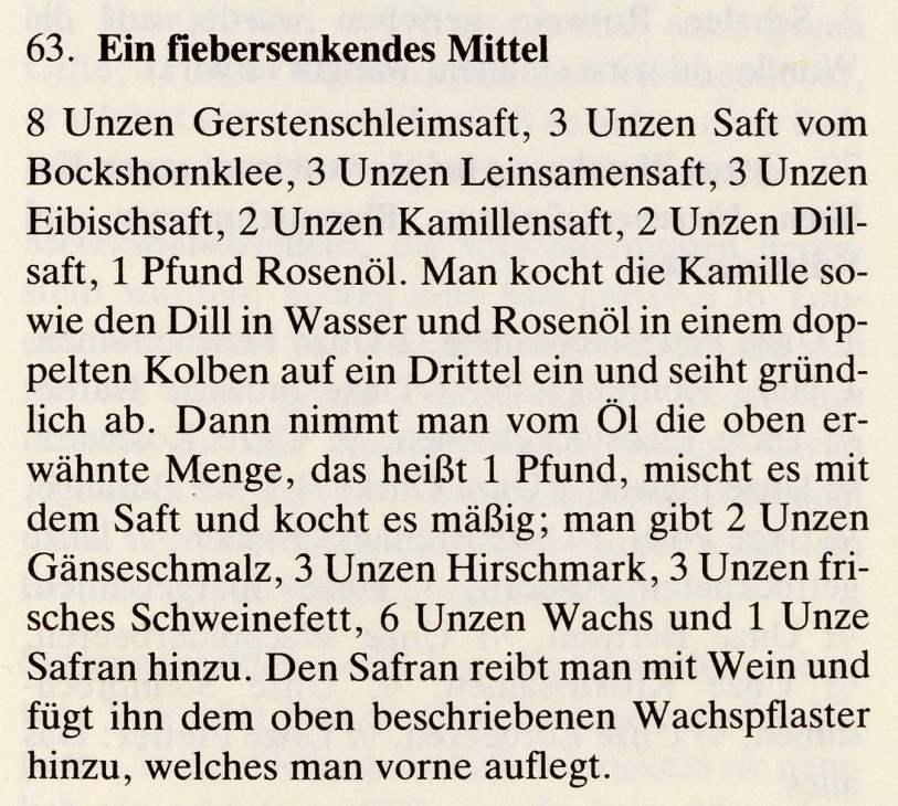 8_Das Lorscher Arzneibuch der Staatsbibliothek Bamberg_Rezept Fieber
