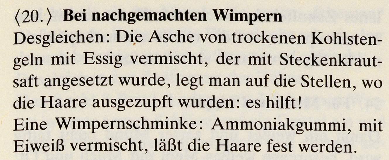 9_Das Lorscher Arzneibuch der Staatsbibliothek Bamberg_Rezept nachgemachte Wimpern