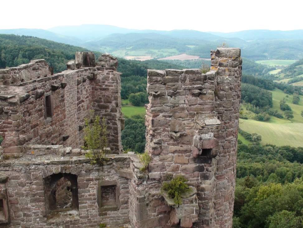 Burgruine Hanstein bei Bornhagen im Eichsfeld/Thüringen
